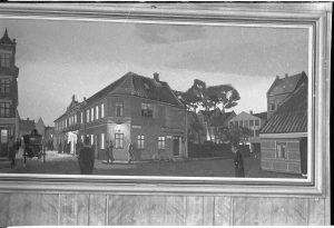 Odense Teater på Sortebrødre Torv. På billeder ses en forhøjning til et snoreloft, der kom til omkring 1840.